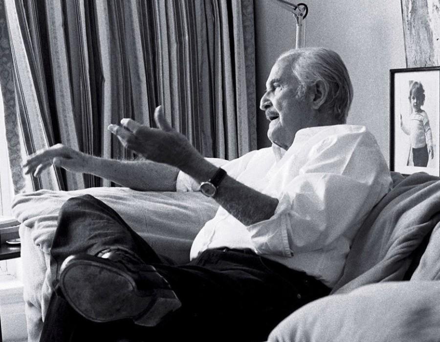 Carlos Fuentes, romancier, Londres, mai 2011