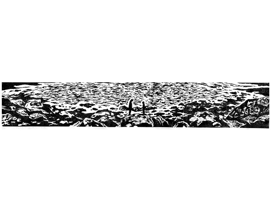 Crépuscule, paysage du littoral II