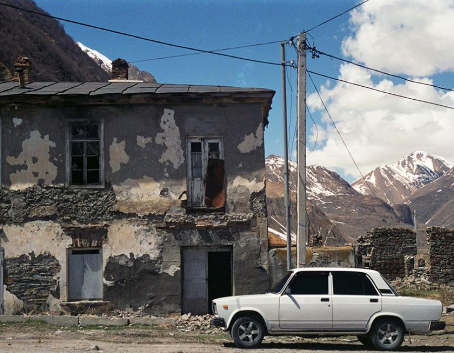 Kazbegi, Georgie, avril 2012