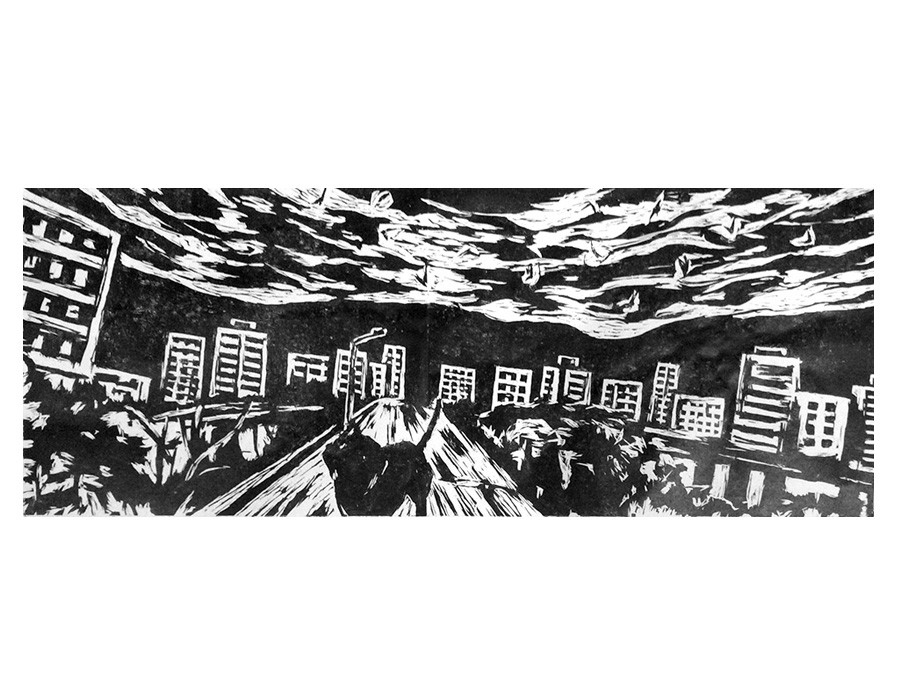 Paysage au seuil d'une ville II