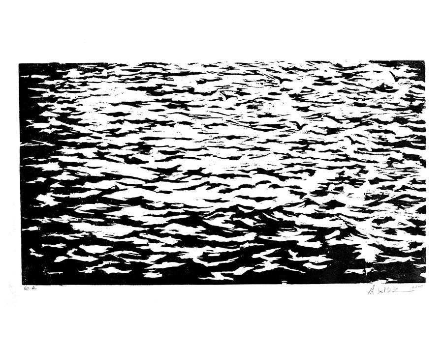 Paysage de bord de Seine IX